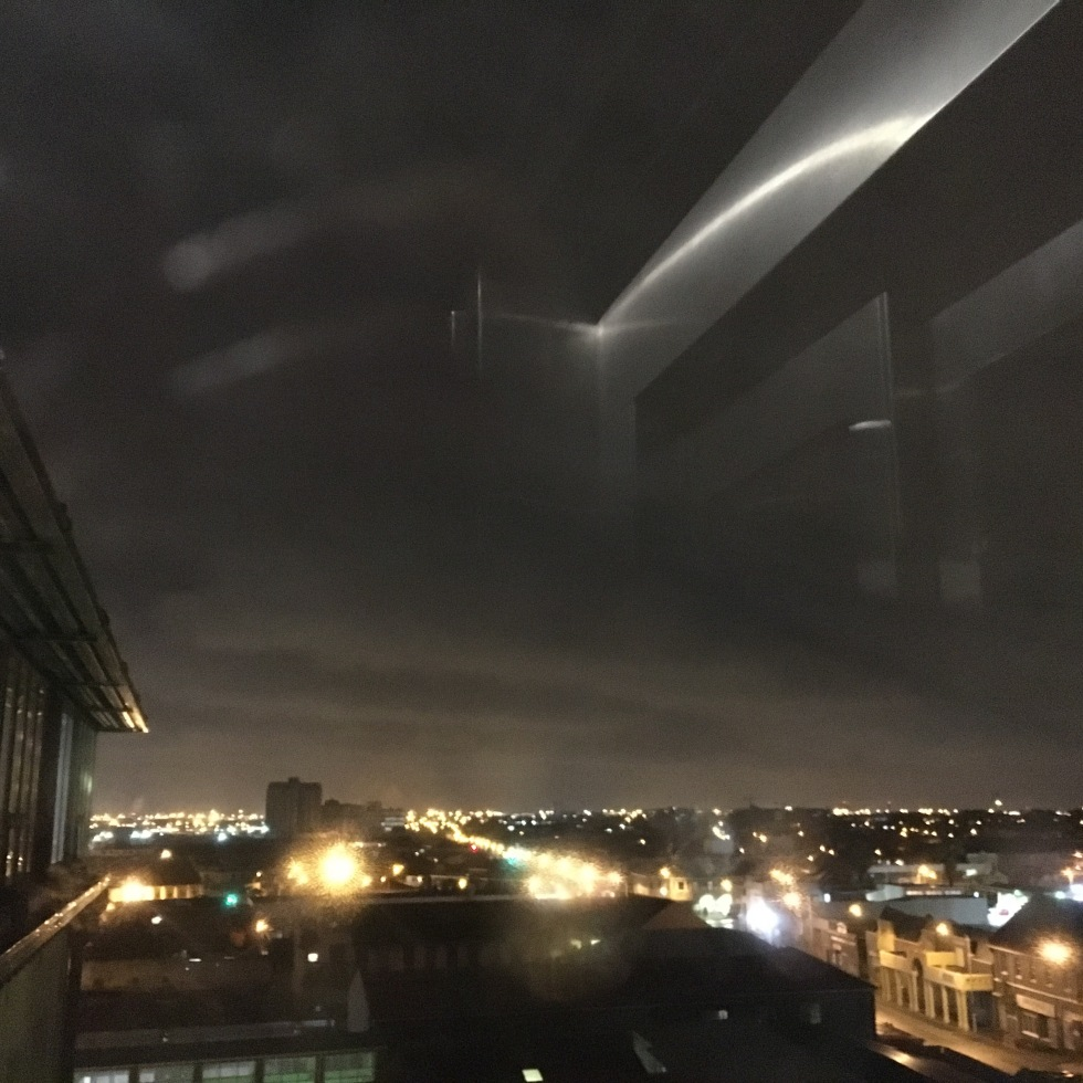 Potluck Club view, rainy skies, Cape Town, calm