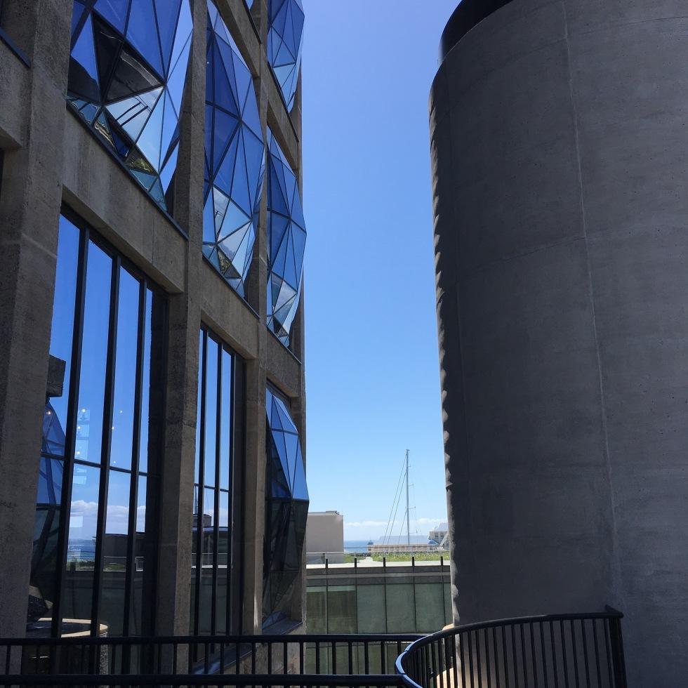 reflections, bright sky, sunny day